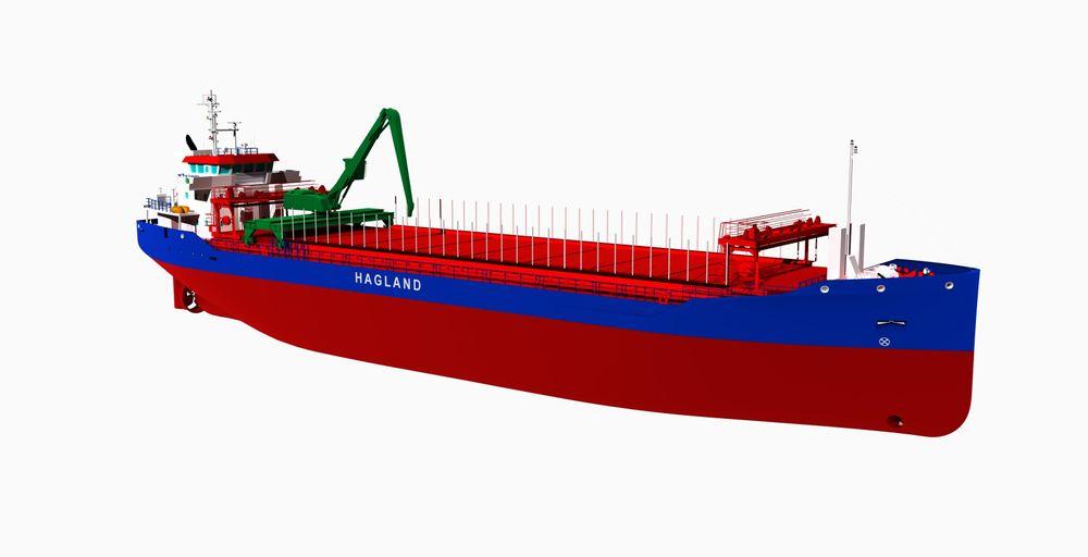 Hagland Shipping fornyer flåten med to lavutslipps bulkskip som er forberedt for nullutslipps drivstoff. Skipene blir 87 meter lange, 15 meter brede og er på 5.000 dødvekttonn.