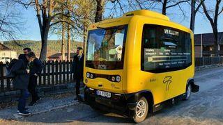 På Kongsberg er de selvkjørende bussene nå en del av det ordinære kollektivtilbudet.