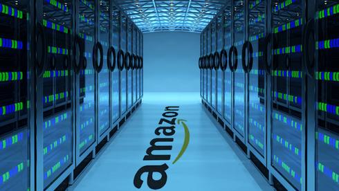 Bilde fra et av Amazons datasentre.