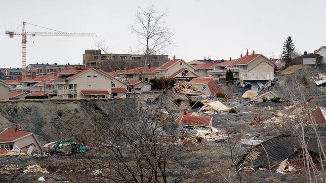 Rasområdet i Gjerdrum, april 2021.