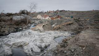Fortsatt livsfarlig i skredområdet i Gjerdrum – å drenere vannet er første prioritet