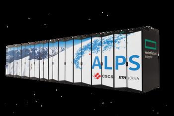 Tegning av superdatamaskinen Alps ved CSCS i Sveits.
