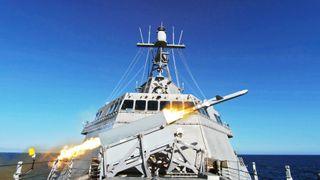 Det amerikanske krigsskipet har fyrt av et nytt Kongsberg-missil