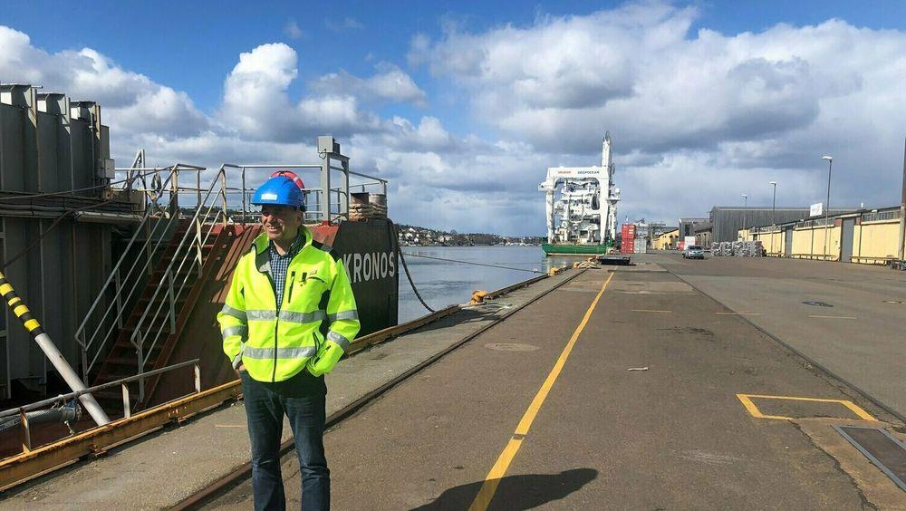 Borg CO2 og Northern Lights har signert en intensjonsavtale om utvikling av CO2-fangst, transport og lagringsløsninger for industribedrifter i Fredrikstad, Sarpsborg og Halden. Her ved Tore Lundestad, daglig leder i Borg CO2 og Havnedirektør i Borg Havn.
