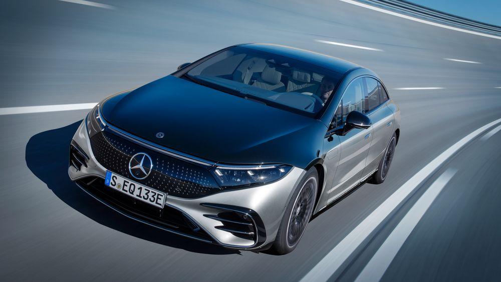 Slik ser Mercedes EQS ut.