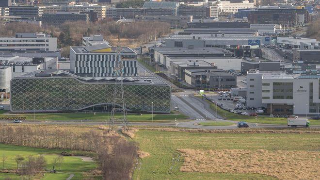 Solpark nabostrøm Forus næringspark Ronny Fiuren solceller deling energi nve nettleie effektledd strøm elektrisitet