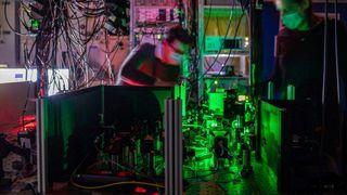 Bildet viser en del av kvantenettverket.