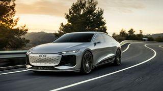 Konseptutgaven av kommende Audi A6 E-Tron.