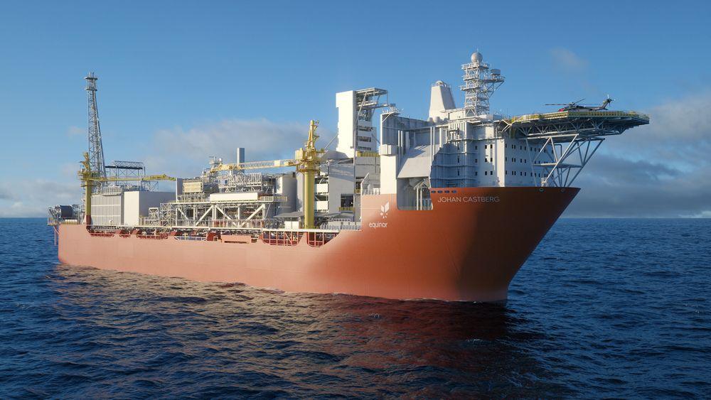 Johan Castberg-skipet, slik det vil se ut på feltet.