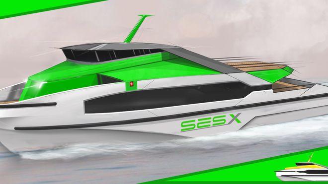 SES-X sikter i første omgang inn på hurtiggående passasjerfartøy, arbeidsbåter og mannskapsbåter (CTV) for transport av teknikere til havvindparker eller andre bruksområder kunder ser for seg.