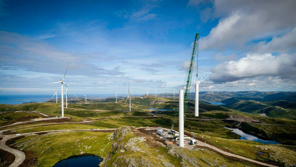 Er norsk vindkraft egentlig miljøvennlig? Her fra Statkrafts anlegg på Fosen.