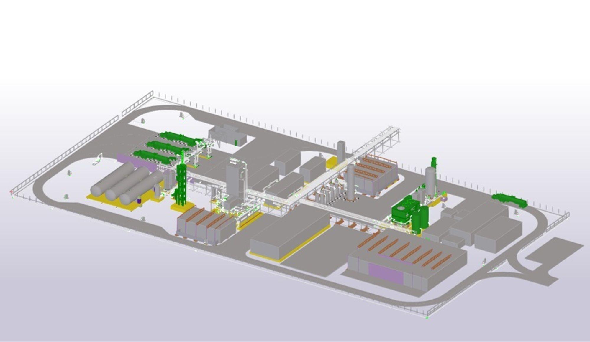 Hydrogenfabrikken BKK, Equinor og Air Liquid planlegger på Mongstad.
