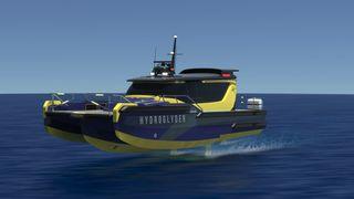 Hydroglyder kalles det  batteridrevne konseptfartøyet til Lift Ocean og Yinson. Slike kan erstatte 2.000 dieseldrevne arbeidsbåter som brukes bare i Singapore havn til en rekke oppdrag.  Det er en arbeidsbåt som kan