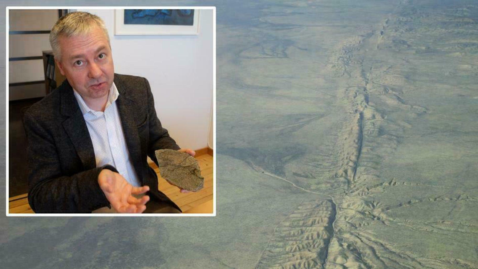 Francois Renard skal undersøke steinprøver fra Norge og fra San Andreas-forkastningen i California.