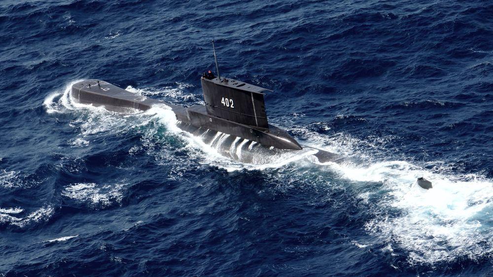 Den savnede indonesiske ubåten KRI Nanggala på et bilde fra 2014.