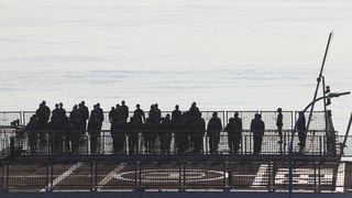 Vraket av ubåten er funnet på  838 meters dyp
