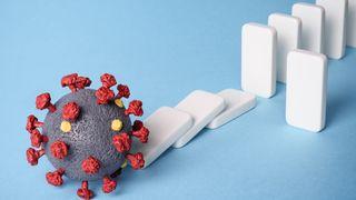 Illustrasjon som skal vise et koronavirus.