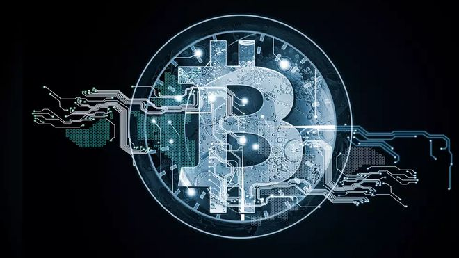 Illustrasjonsbilde for kryptovaluta og bitcoin.