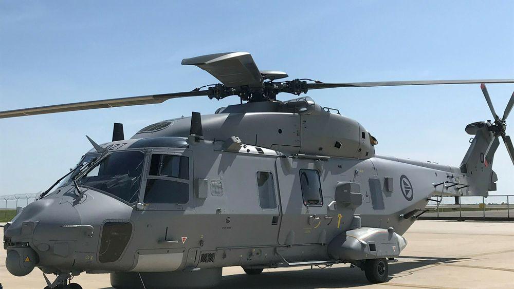 NNWN002, det tolvte norske NH90-helikopteret, på NHI-fabrikken i Nord-Italia.