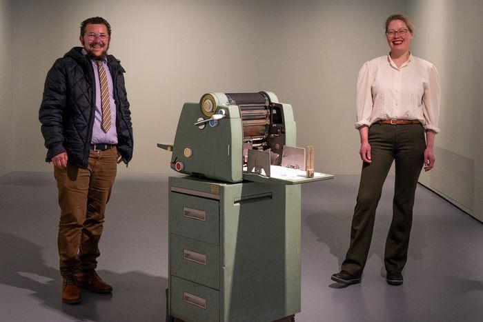 – En vakker maskin, synes Imwinkelried og Nedregård fra kunstnergruppen Alt Går Bra.