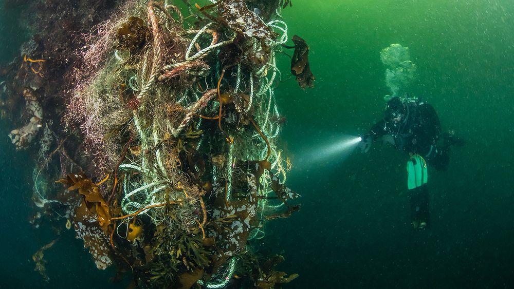 Tapte fiskeredskapet fortsetter å fiske i mange år.