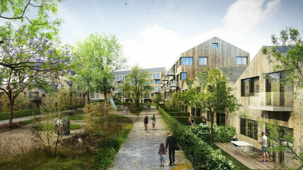 The New European Bauhaus retter seg ikke først og fremst mot storbyer. Her en skisse for hvordan den nye bydeelen Ydalir i Elverum kan bli.