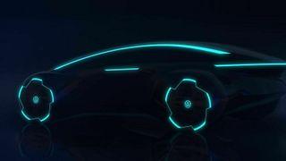 Designutkast i Project Trinity som utvikler en sedan som Volkswagen planlegger å lansere i 2026.