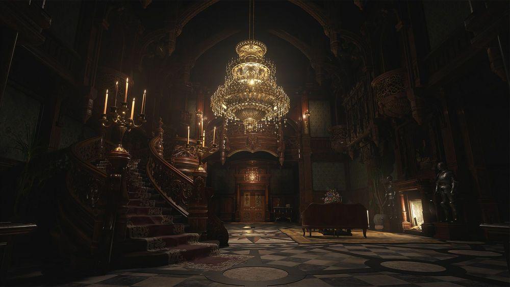 Immagine del castello nel Resident Evil Village
