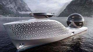 Det rare forskningsfartøyet kan være det første til sjøs med en saltsmeltereaktor. Båten får 13 etasjer,