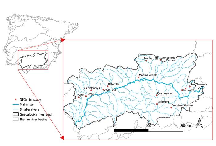 Studien så på eksisterende dammer uten vannkraft – i området Guadalquivir i sørlige Spania.