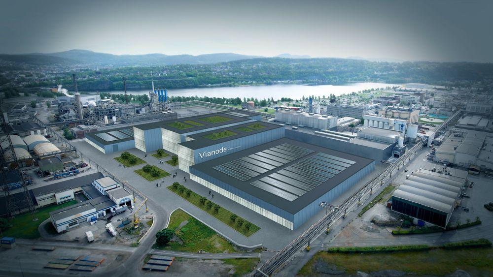 Tomten Vianode disponerer på Herøya er på 60.000 kvadratmeter og gir rom for induksjonsovner som skal produsere 50.000 tonn grafitt per år.