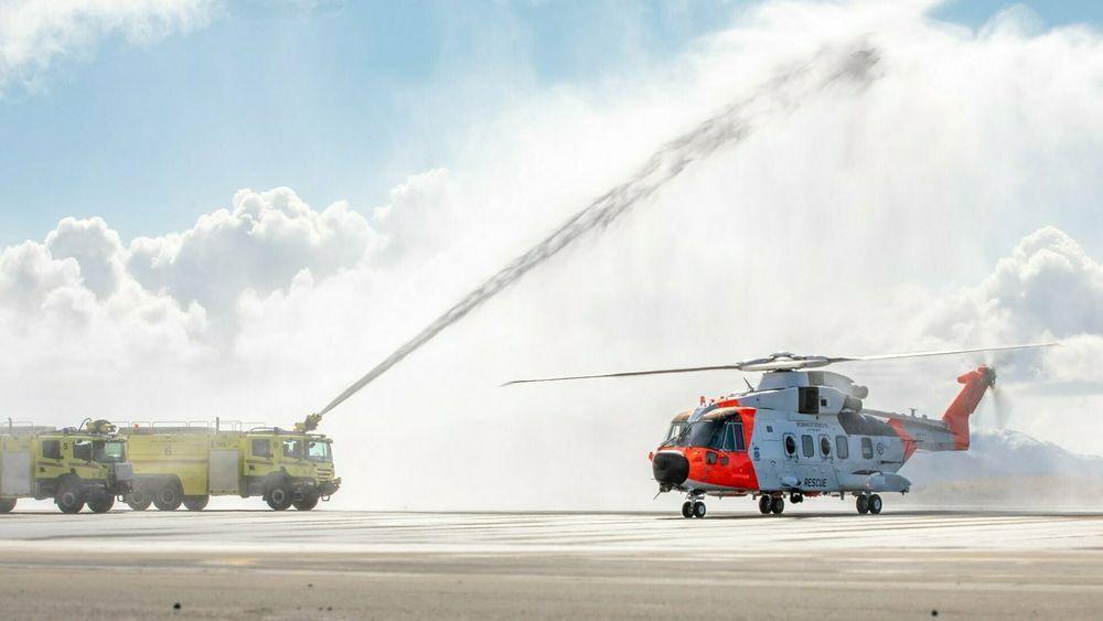 Det første av tre AW101 ankom Ørland 28. april. 14. mai klokka 12 overtar de beredskapen.