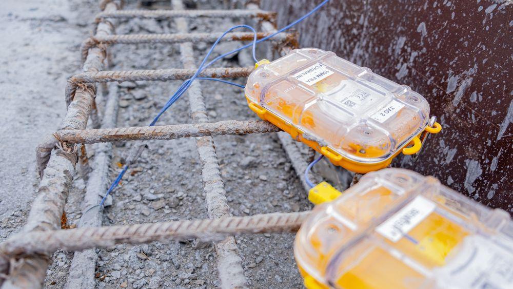 Sensohives trådløse betongsensorer har blitt tatt i bruk i prosjektet E39 Mandal-Kristiansand. Disse sensorene er fra et tidlig utviklingsstadium.
