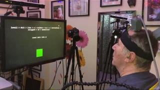 I stedet for å føre en musepeker over et virtuelt tastatur, ble deltakeren i studien bedt om å visualisere at han skrev bokstaver for hånd. Dermed økte tempoet i skrivingen voldsomt, og med høy nøyaktighet.
