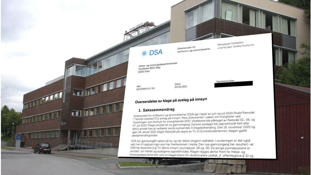 Siste livstegn fra DSA kom 4. februar i år, da direktoratet oversendte dokumenter til Helse- og omsorgsdepartementet. Siden har HOD to ganger etterlyst mer informasjon, uten svar.