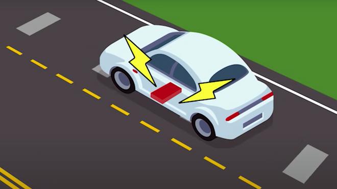 Veibanen skal kunne lade bilen mens du kjører.