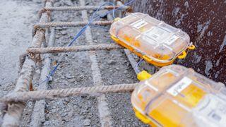 Bilde av Sensohives betongsensorer på et tidlig stadium. Brukt i prosjektet E39 Mandal-Kristiansand.