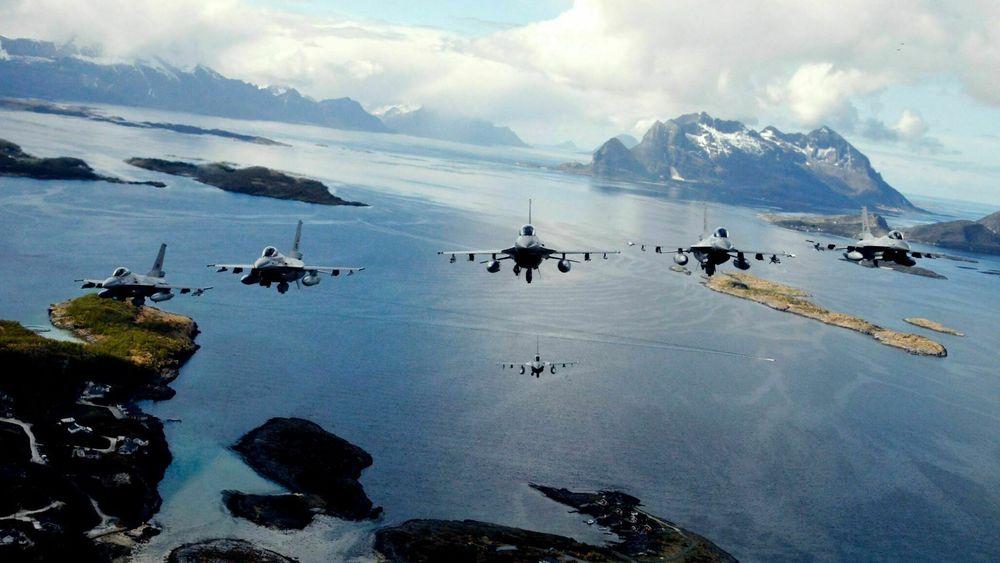 Norske F-16 fra Bodø under ACE-17. Årets øvelse er den siste for disse jagerflyene som fases ut i løpet av dette året.