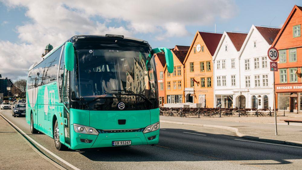 Transportselskapet Tides nye turbuss med base i Bergen er en av Norges første helelektriske.