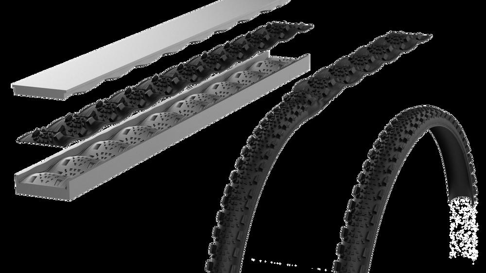 Retyres patenterte produksjonsmetode gjør det mulig å støpe dekk og dekkoverflater med dobbelkurvatur flatt. Metoden minner om origami, der sluttproduktet kan brettes ut til et vanlig dekk.