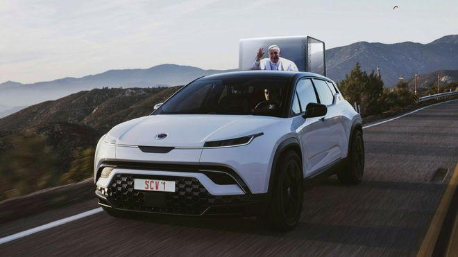 Paven velger elektrisk: Får spesialtilpasset bil fra Fisker