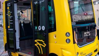 Selvkjørende buss i Kongsberg, 2021