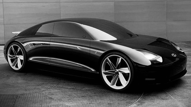 Ioniq 6 bygger på konseptbilen Hyundai Prophecy.