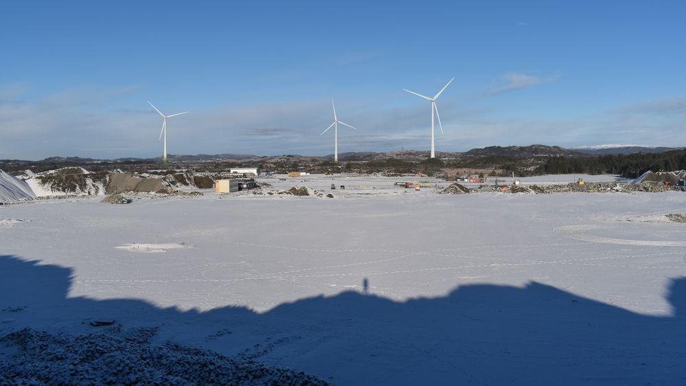 Det er snakk om tre vindturbiner på industriområdet i Haugaland næringspark. Disse må ha lysmerking, men ikke hele tiden.