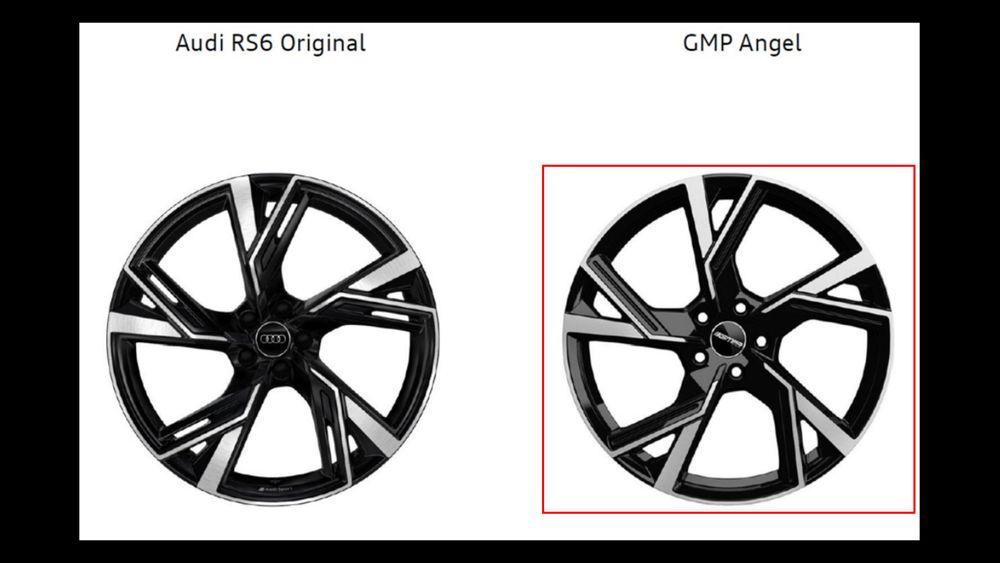 Audi mener felgen til høyre er en ulovlig kopi.