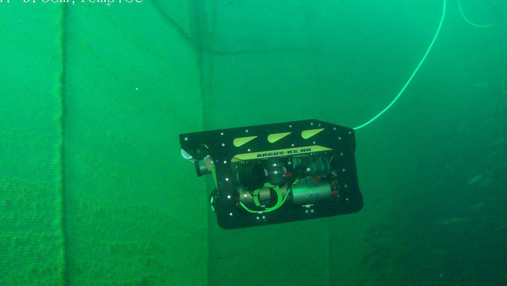 Den modifiserte ROV'en skal bidra til kjappere og tryggere inspeksjoner.