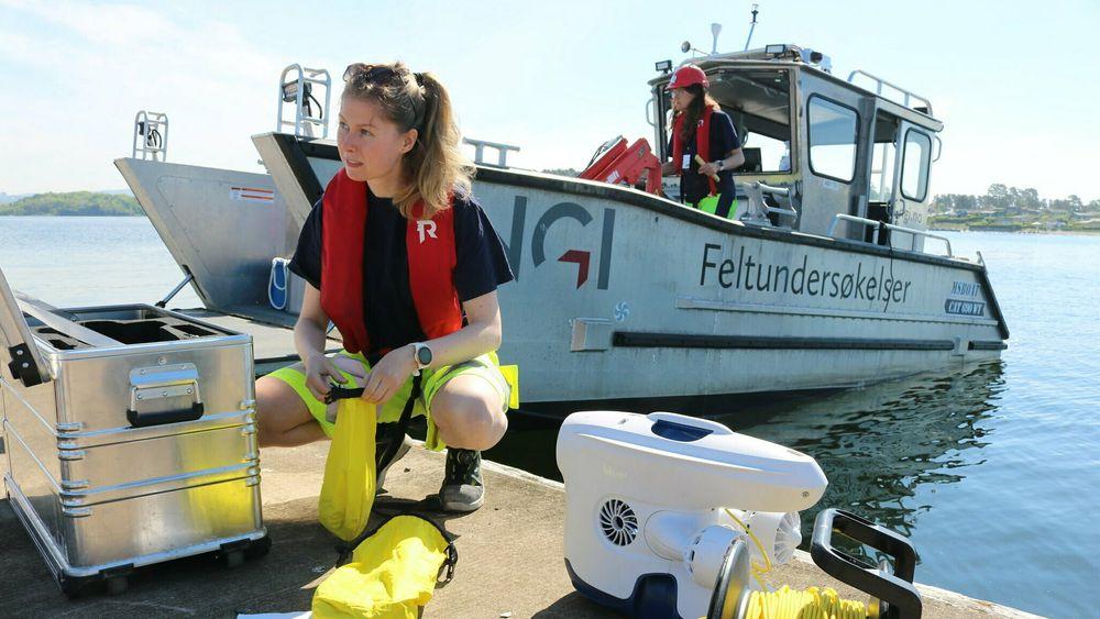 – Resultatene av undersøkelsene våre viser at det er ulike miljøgifter i sjøbunnen, sier forsker og prosjektleder Gøril Aasen Slinde i NGI.