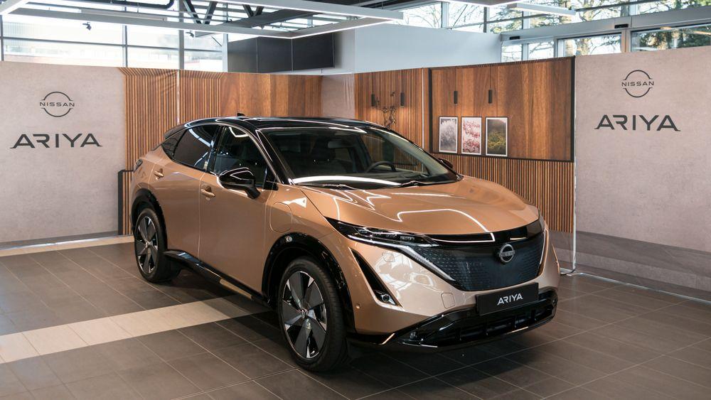 Nissan Ariya var tidligere i år utstilt i Oslo.
