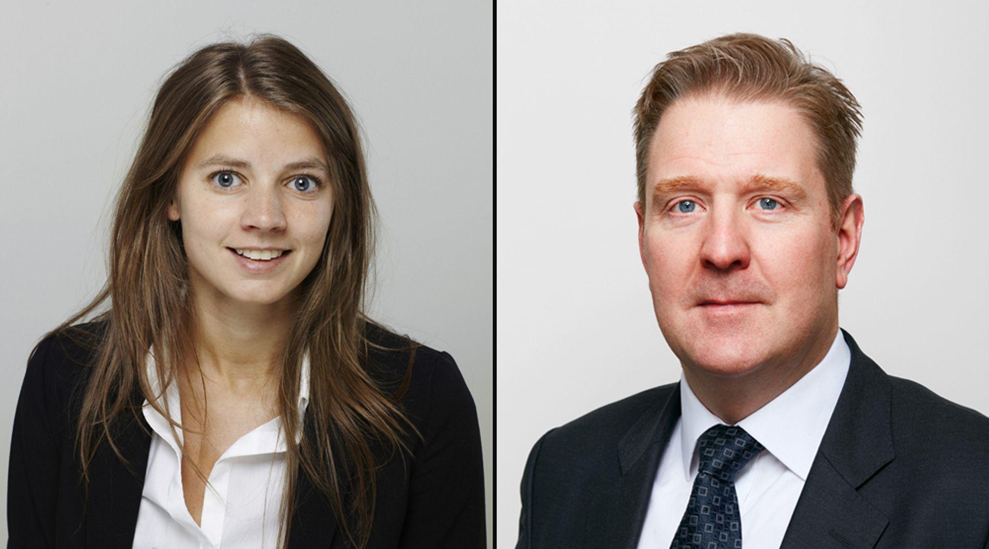Arbeidsrettsadvokatene Anja Lange og Hans Jørgen Bender i advokatfirmaet Selmer jobber med å rådgi bedrifter som planlegger den store gjenåpningen etter pandemien.