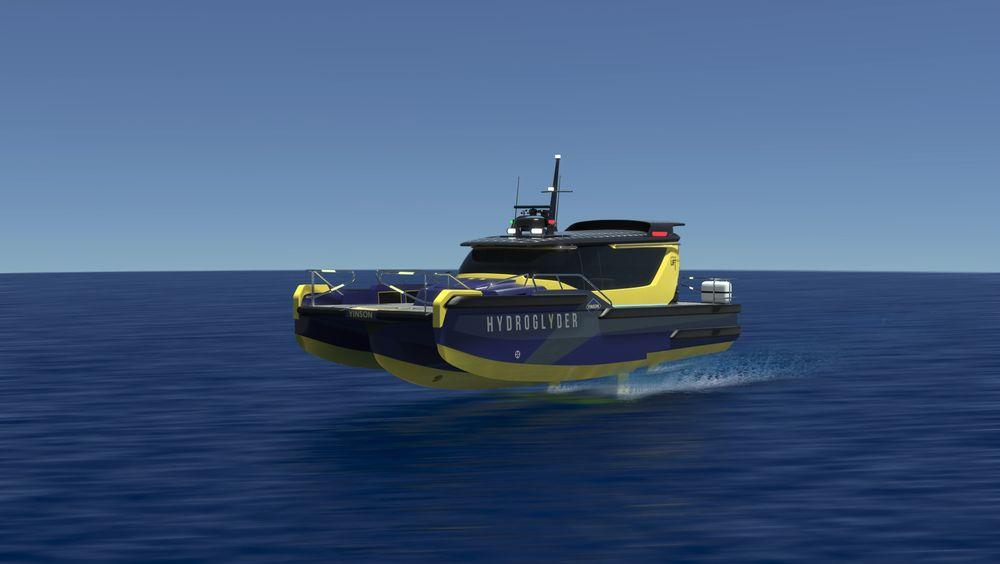 Hydroglyder kalles det batteridrevne konseptfartøyet til Lift Ocean og Yinson. Slike kan erstatte 2.000 dieseldrevne arbeidsbåter som brukes bare i Singapore havn til en rekke oppdrag.